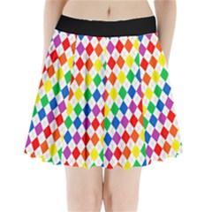 Bright Color Argyle Pleated Mini Skirt Pleated Mini Mesh Skirt