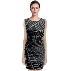 Walkin in the Spiderwebs Sleeveless Midi Dress
