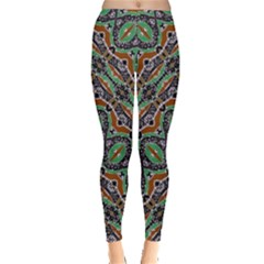 Colorful Tribal Geometric Print Leggings