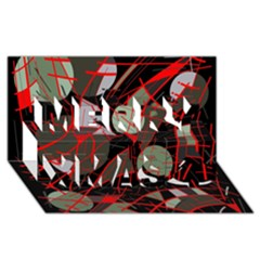 Artistic abstraction Merry Xmas 3D Greeting Card (8x4)