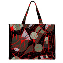 Artistic Abstraction Zipper Large Tote Bag