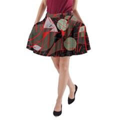 Artistic Abstraction A Line Pocket Skirt