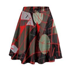 Artistic abstraction High Waist Skirt