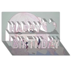 Bububun Happy Birthday 3d Greeting Card (8x4)