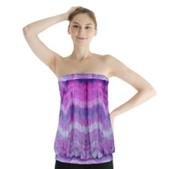 Tie Dye Color Strapless Top