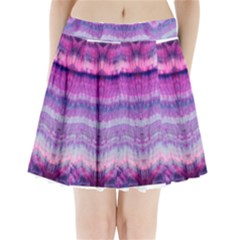 Tie Dye Color Pleated Mini Mesh Skirt(P209)