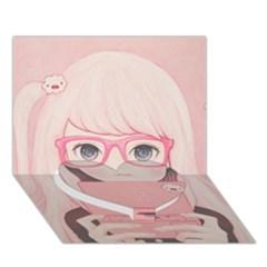 Gamegirl Girl Heart Bottom 3D Greeting Card (7x5)