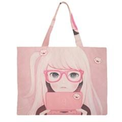 Gamegirl Girl Large Tote Bag