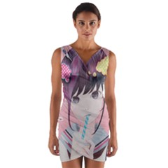 Sweet Boredom Wrap Front Bodycon Dress