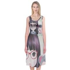 Close Encounter 4 Midi Sleeveless Dress