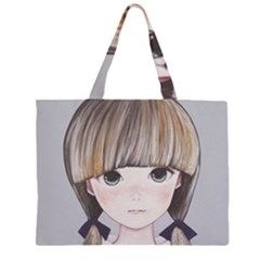 Strawberry Things  Zipper Large Tote Bag