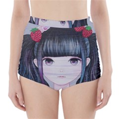 Nakayoshi Strawberry High-Waisted Bikini Bottoms