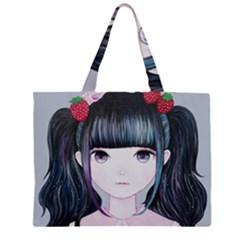 Nakayoshi Strawberry Large Tote Bag
