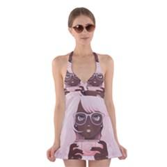 Gamergirl 3 Halter Swimsuit Dress