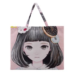 Maybe March<3 Zipper Large Tote Bag