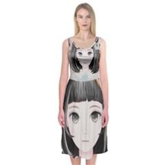 Maybe March<3 Midi Sleeveless Dress