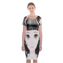 Maybe March<3 Classic Short Sleeve Midi Dress