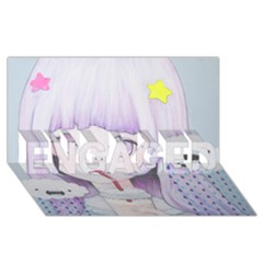 My Little Cloud 2 Engaged 3d Greeting Card (8x4)
