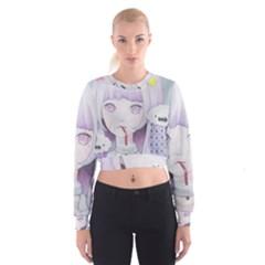 My Little Cloud 2 Women s Cropped Sweatshirt