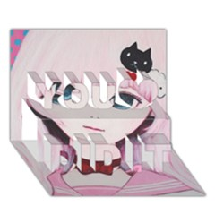Sweet Tuesday You Did It 3D Greeting Card (7x5)