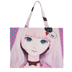 Sweet Tuesday Zipper Large Tote Bag