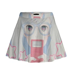 Gamegirl Girl Play With Star Mini Flare Skirt
