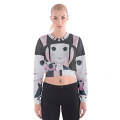 Smile Camare Women s Cropped Sweatshirt