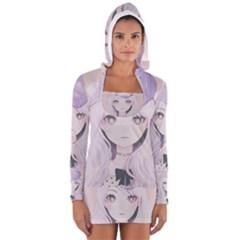 Ricehime Women s Long Sleeve Hooded T Shirt