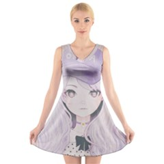 Ricehime V Neck Sleeveless Skater Dress
