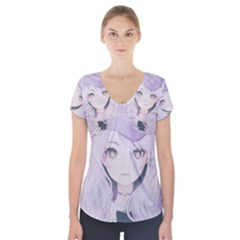 Ricehime Short Sleeve Front Detail Top