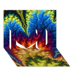 Amazing Special Fractal 25a I Love You 3D Greeting Card (7x5)