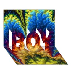 Amazing Special Fractal 25a BOY 3D Greeting Card (7x5)