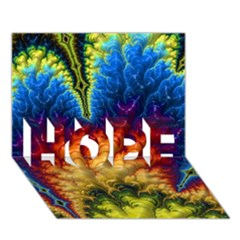 Amazing Special Fractal 25a HOPE 3D Greeting Card (7x5)