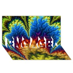 Amazing Special Fractal 25a Engaged 3d Greeting Card (8x4)