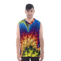 Amazing Special Fractal 25a Men s Basketball Tank Top