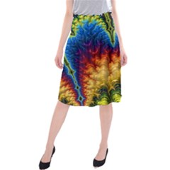Amazing Special Fractal 25a Midi Beach Skirt