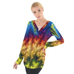 Amazing Special Fractal 25a Women s Tie Up Tee