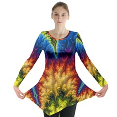 Amazing Special Fractal 25a Long Sleeve Tunic