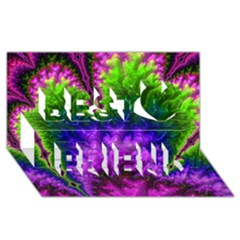 Amazing Special Fractal 25c Best Friends 3D Greeting Card (8x4)