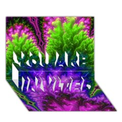 Amazing Special Fractal 25c YOU ARE INVITED 3D Greeting Card (7x5)