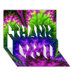 Amazing Special Fractal 25c Thank You 3d Greeting Card (7x5)