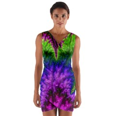 Amazing Special Fractal 25c Wrap Front Bodycon Dress