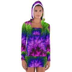 Amazing Special Fractal 25c Women s Long Sleeve Hooded T-shirt