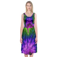 Amazing Special Fractal 25c Midi Sleeveless Dress