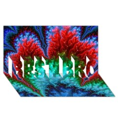 Amazing Special Fractal 25b BEST BRO 3D Greeting Card (8x4)