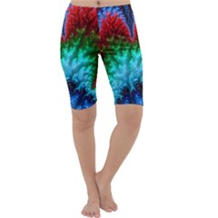 Amazing Special Fractal 25b Cropped Leggings