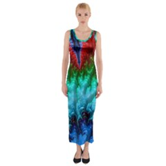 Amazing Special Fractal 25b Fitted Maxi Dress