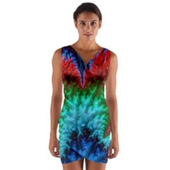 Amazing Special Fractal 25b Wrap Front Bodycon Dress