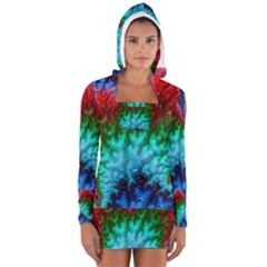 Amazing Special Fractal 25b Women s Long Sleeve Hooded T-shirt
