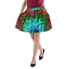 Amazing Special Fractal 25b A Line Pocket Skirt